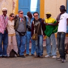 The Saintlouisiennes in the street