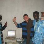 festeggiamenti per il nuovo e unico internet point a toubab Dialaw