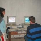 volontari che hanno messo l'internet point a Toubab Dialaw2